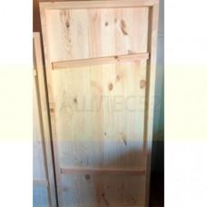 Деревянная дверь для бани, ласточкин хвост, 1,9м на 0.8м, хвоя
