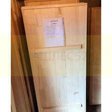 Деревянная дверь для бани, осина 1,6м на 0.8м